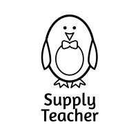 Sticker Factory Stamper: Supply Teacher - Black
