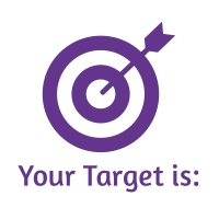 Sticker Factory Stamper: Your Target Is - Purple