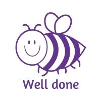 Sticker Factory Stamper: Well Done Bee - Purple