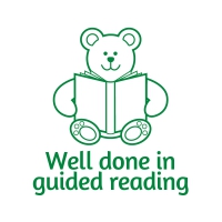 Sticker Factory Stamper: Well Done In Guided Reading - Green