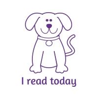 Sticker Factory Stamper: I Read Today - Purple