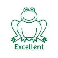 Sticker Factory Stamper: Excellent Frog - Green