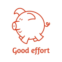 Sticker Factory Stamper: Good Effort Piggy - Red