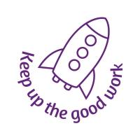 Sticker Factory Stamper: Keep Up The Good Work - Purple
