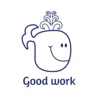 Sticker Factory Stamper: Good Work Whale - Blue