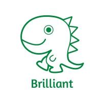 Sticker Factory Stamper: Square Ron Dino Stamper - Brilliant