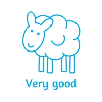 Sticker Factory Stamper: Very Good Sheep - Turquoise
