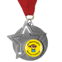 Personalised Medal: Star - Silver 60mm