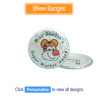 Badge: Personalised - 38mm Sparkling