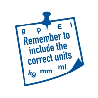 Stamper: Remember Correct Units