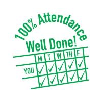 Stamper: 100% Attendance