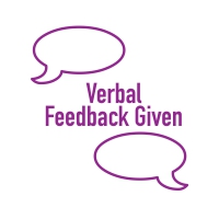 Stamper: Verbal Feedback Given (Purple)