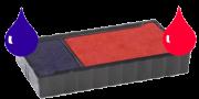 Ink Pad: Blue/Red For Budget Stamper