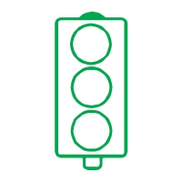Stamper: No Words Traffic Light - Green