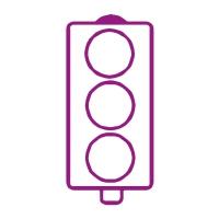 Stamper: No Words Traffic Light - Purple