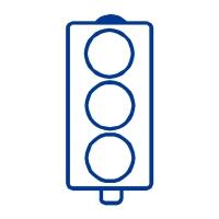 Stamper: No Words Traffic Light - Blue