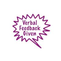 Stamper: Verbal Feedback Given - Purple