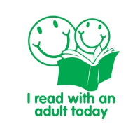 Stamper: I Read With An Adult Today - Green