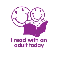 Stamper: I Read With An Adult Today - Purple