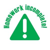 Stamper: Homework Incomplete - Green