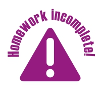 Stamper: Homework Incomplete - Purple