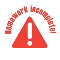 Stamper: Homework Incomplete - Red