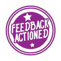 Stamper: Feedback Actioned - Purple
