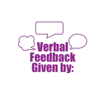 Stamper: Verbal Feedback Given By - Purple