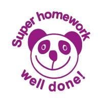 Stamper: Super Homework Well Done! - Panda - Purple