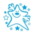 Stamper: Smiley Star - Turquoise