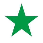 Stick Star Stamper: Green (6mm)