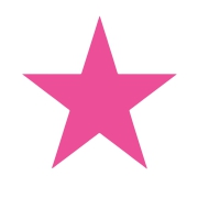 Stick Star Stamper: Pink (6mm)