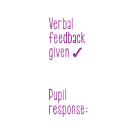 Stamper: Verbal Feedback Given