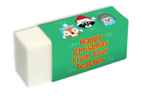 Eraser: Happy Christmas From Your Teacher Woodland Animals Christmas