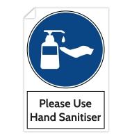 Warning Sticker - Please Use Hand Sanitiser (200x300 mm)
