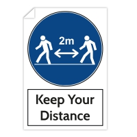 Warning Sticker - Keep Your Distance (200x300 mm)