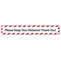 Social Distance Floor Marker - Please Keep Your Distance (700x100mm)