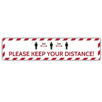 Social Distance Floor Marker - Please Keep Your Distance 2M (700x150mm)