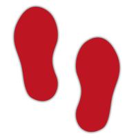 Floor Marker - Red Footprints (250 x 110mm - 10 pairs)