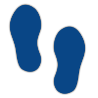 Floor Marker - Dark Blue Footprints (250 x 110mm - 10 pairs)