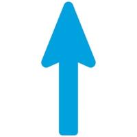 Floor Marker - Blue Directional Arrow (400x160 mm)