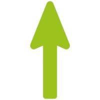Floor Marker - Green Directional Arrow (400x160 mm)
