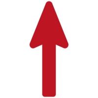 Floor Marker - Red Directional Arrow (400x160 mm)