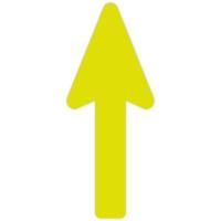 Floor Marker - Yellow Directional Arrow (400x160 mm)