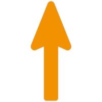 Floor Marker - Orange Directional Arrow (400x160 mm)