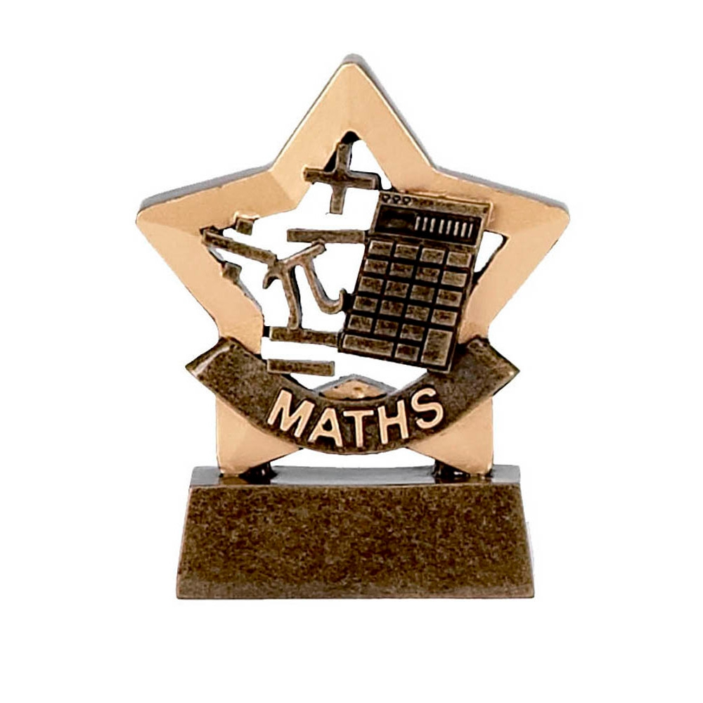 Trophy: Maths Mini Star Trophy
