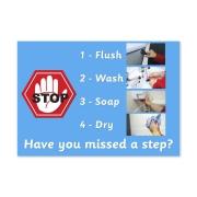 Poster: Laminated Bathroom Reminder Cards
