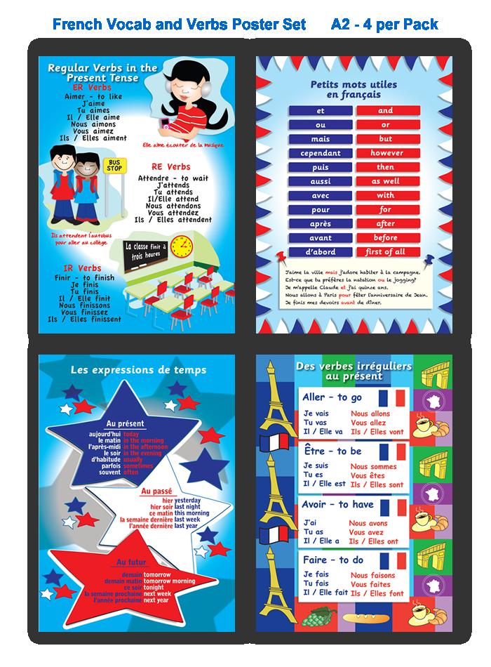 Poster: Vocab and Verbs Set
