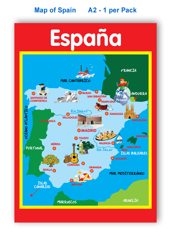 Poster: Map of Spain