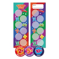2x, 5x, 10x Times Tables Bookmark And Stickers Class Pack